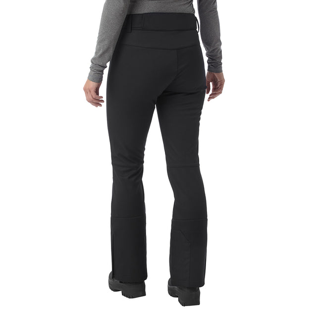 Aubree Womens Fitted Softshell Ski Pants Regular - Black image 3
