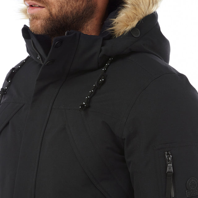 Aviation Mens Milatex/Down Jacket - Black image 5