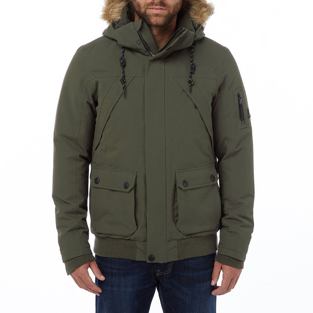 Aviation Mens Milatex/Down Jacket - Dark Khaki image 2
