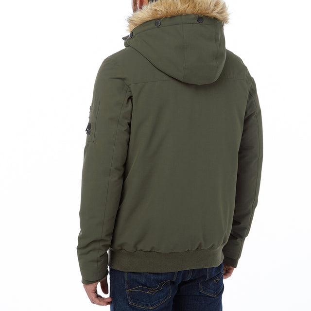 Aviation Mens Milatex/Down Jacket - Dark Khaki image 3