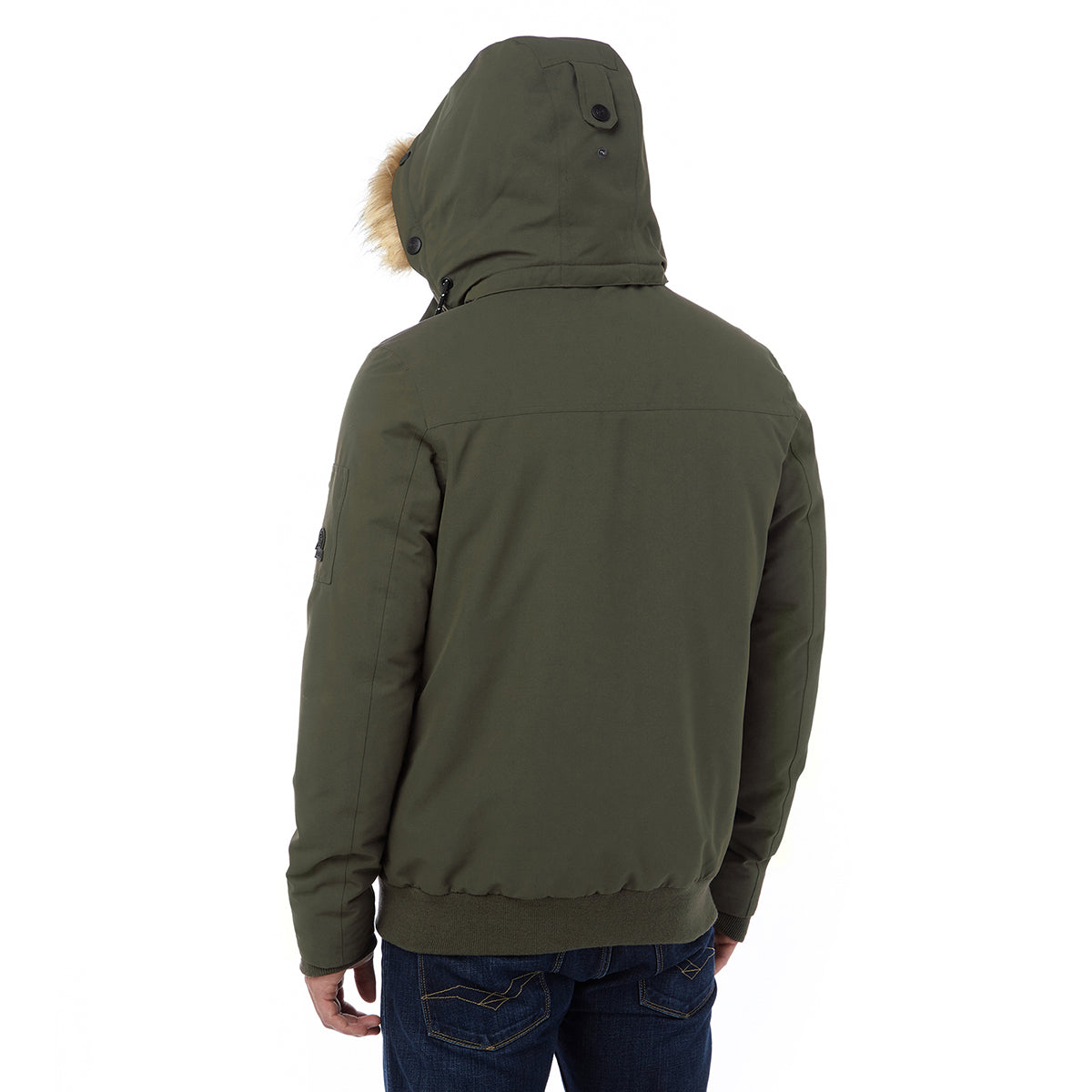 Aviation Mens Milatex/Down Jacket - Dark Khaki image 4