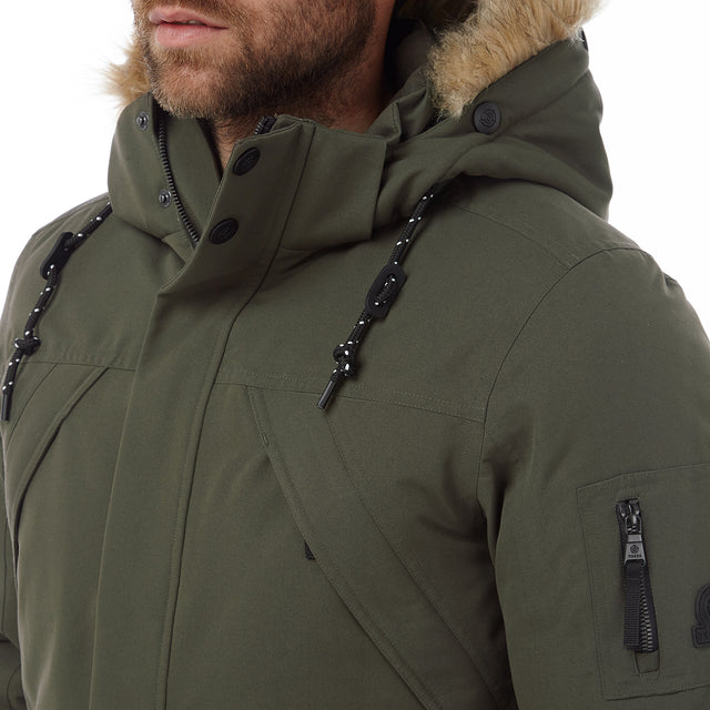 Aviation Mens Milatex/Down Jacket - Dark Khaki image 5