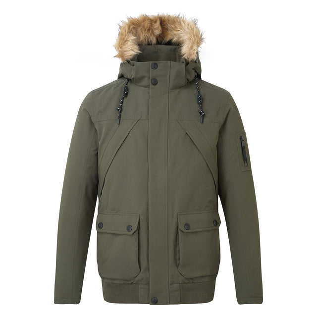 Aviation Mens Milatex/Down Jacket - Dark Khaki image 1