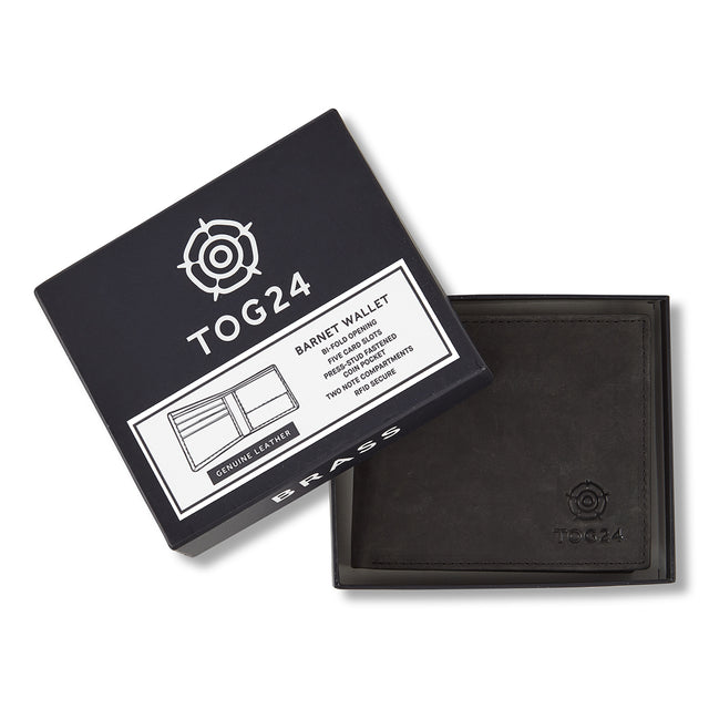 Barnet Leather Wallet - Black image 1