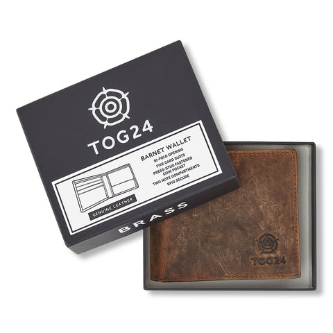 Barnet Leather Wallet - Brown