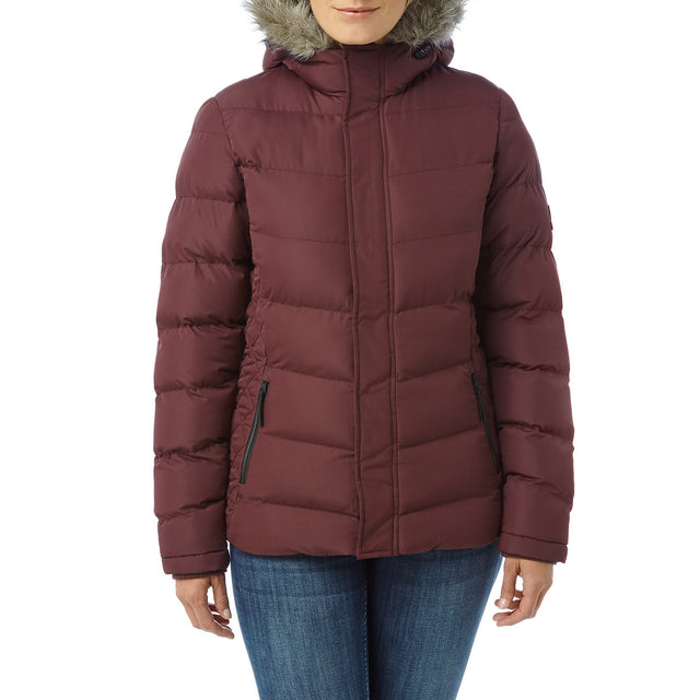 Bartle Womens Insulated Jacket - Deep Port image 2