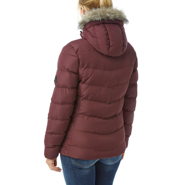 Bartle Womens Insulated Jacket - Deep Port image 3