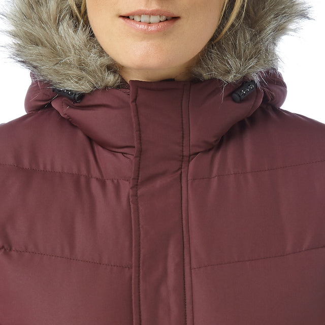 Bartle Womens Insulated Jacket - Deep Port image 5