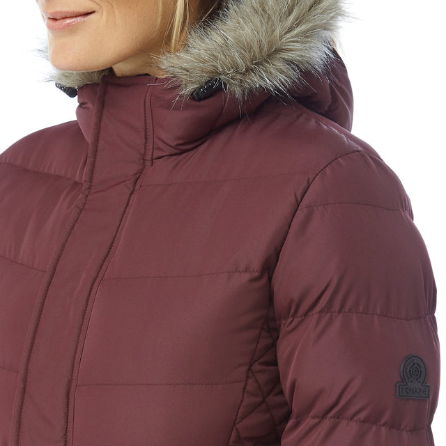 Bartle Womens Insulated Jacket - Deep Port image 6