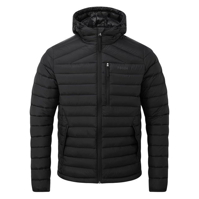 Base Mens Hooded Down Jacket - Coal Grey image 6