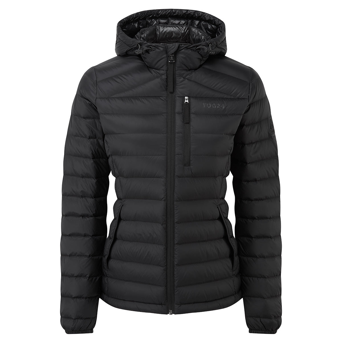 Base Womens Hooded Down Jacket - Coal Grey
