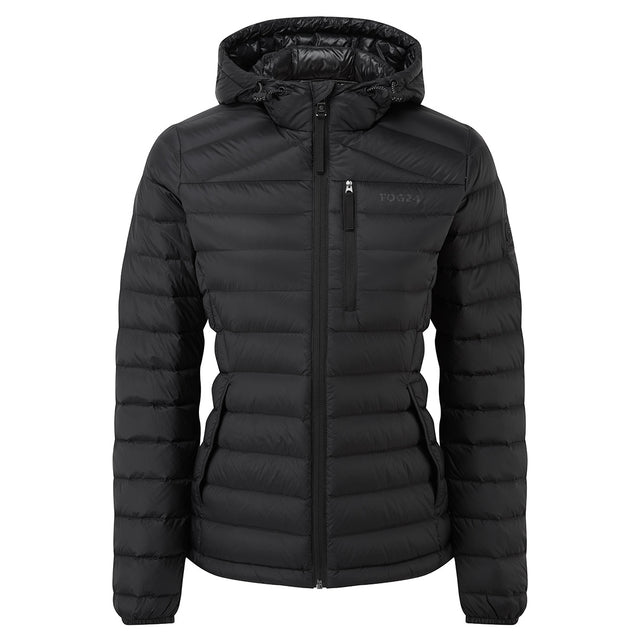 Base Womens Hooded Down Jacket - Coal Grey image 3