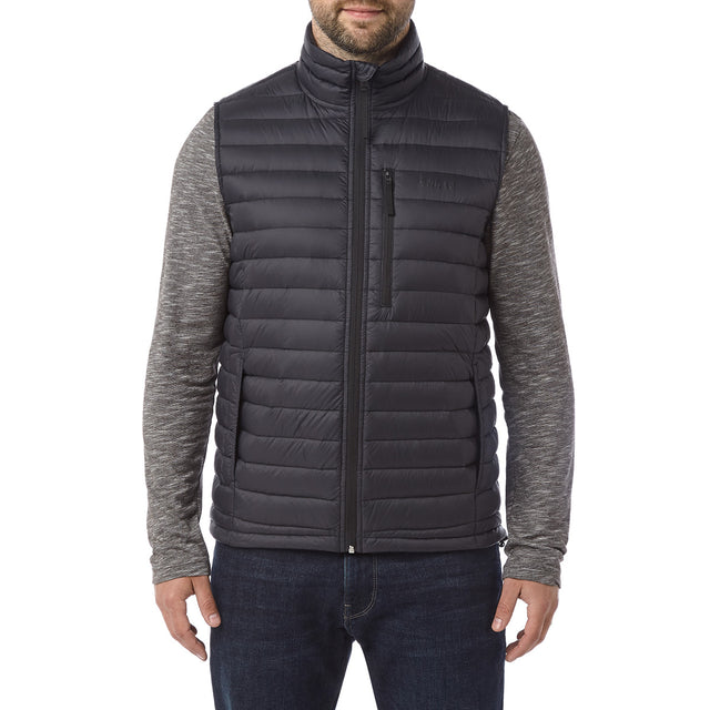 Beck Mens Down Gilet - Black image 2