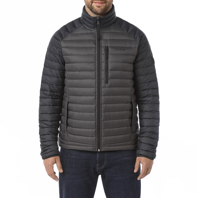 Beck Mens Down Jacket - Charcoal/Black image 2