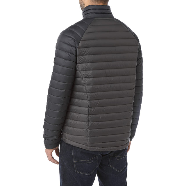 Beck Mens Down Jacket - Charcoal/Black image 3