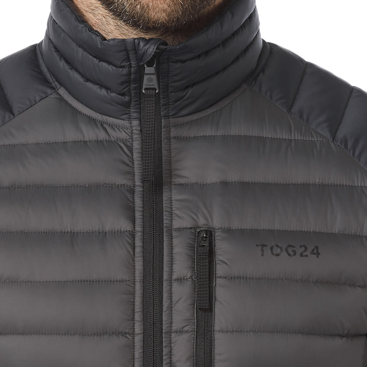 Beck Mens Down Jacket - Charcoal/Black image 4