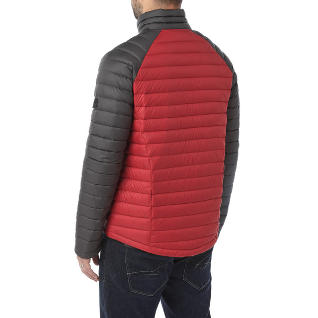 Beck Mens Down Jacket - Red/Charcoal image 3