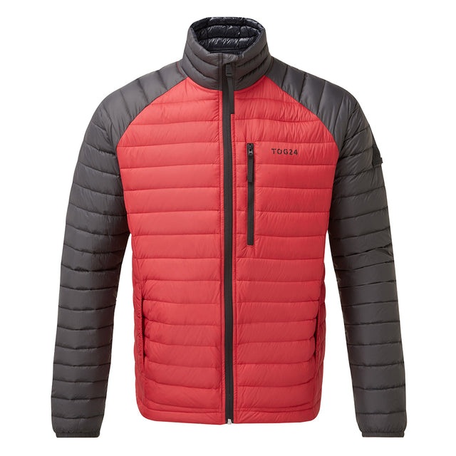 Beck Mens Down Jacket - Red/Charcoal image 1