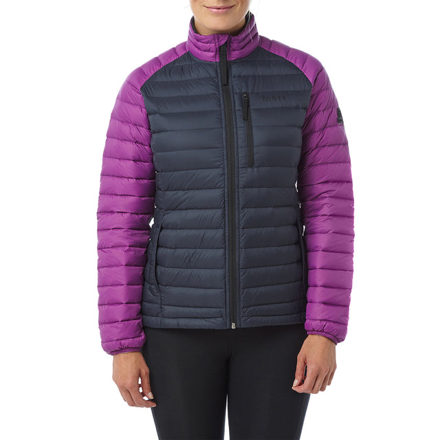 Beck Womens Down Jacket - Navy/Grape image 2