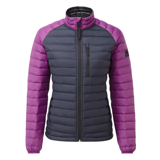 Beck Womens Down Jacket - Navy/Grape image 1