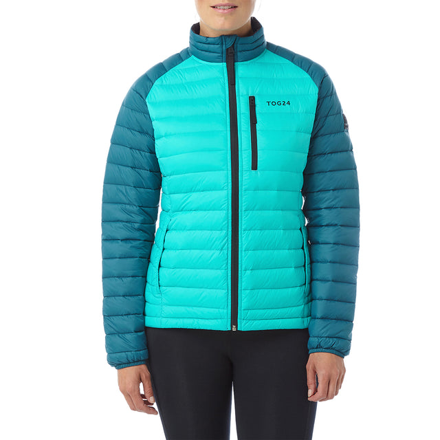 Beck Womens Down Jacket - Ceramic/Lagoon image 2