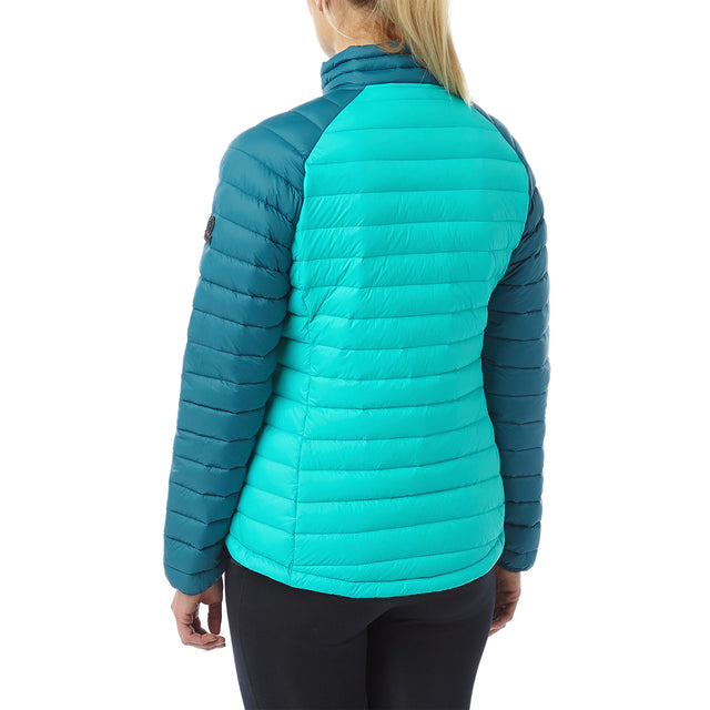 Beck Womens Down Jacket - Ceramic/Lagoon image 3