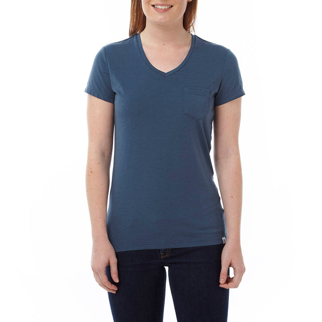 Bianca Womens Dri Release Wool T-Shirt - French Navy image 2