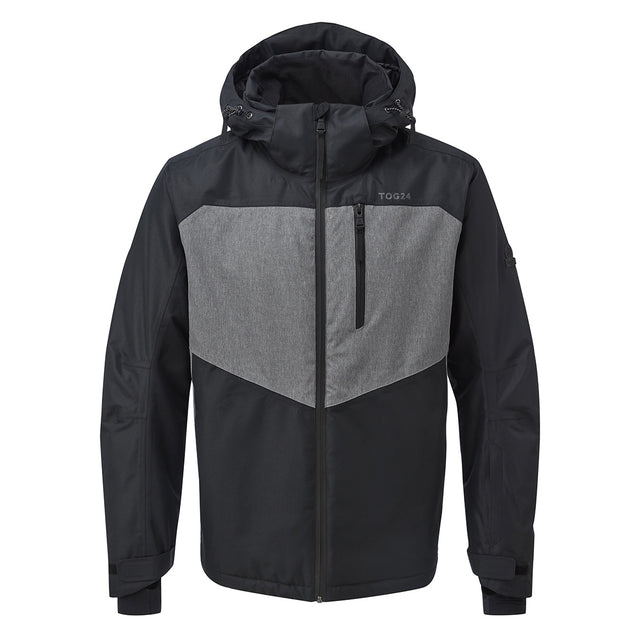 Blade Mens Waterproof Insulated Ski Jacket - Black/Grey Marl image 5