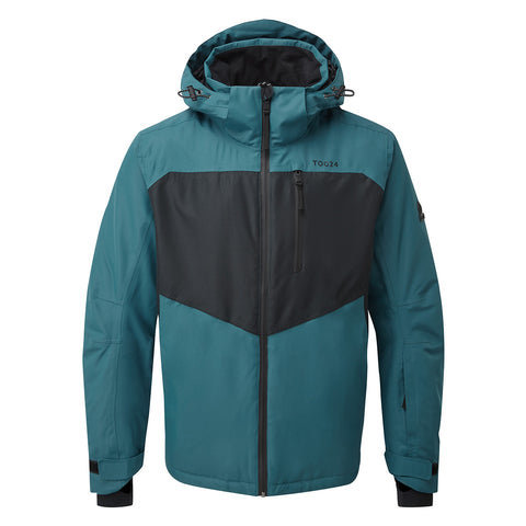 Blade Mens Waterproof Insulated Ski Jacket - Lagoon/Black