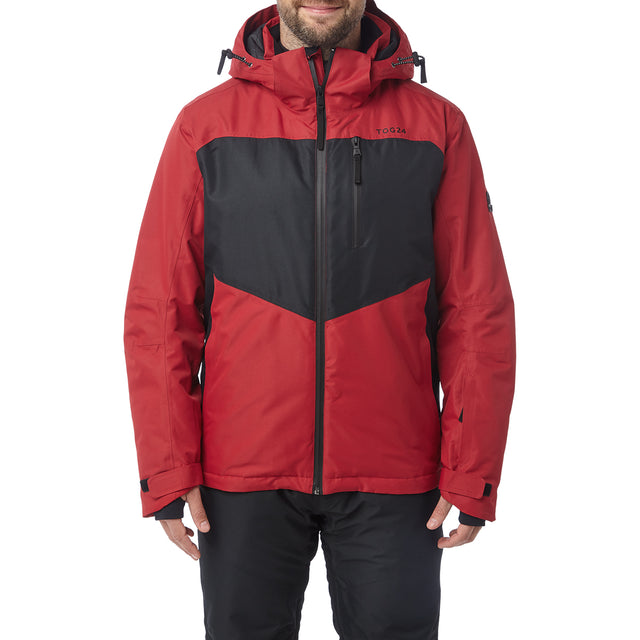 Blade Mens Waterproof Insulated Ski Jacket - Chilli/Black image 2