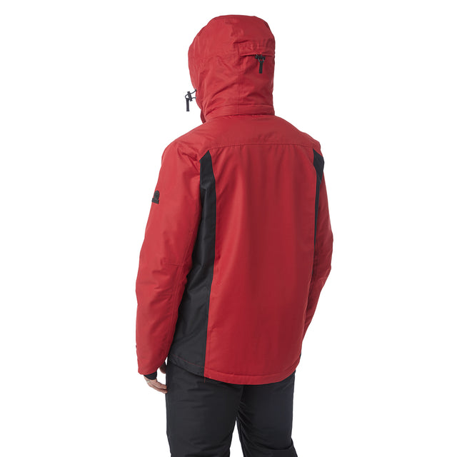 Blade Mens Waterproof Insulated Ski Jacket - Chilli/Black image 3