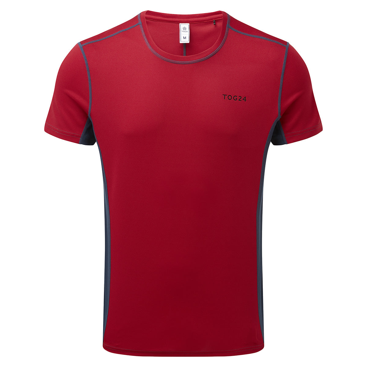 Blevin Mens Performance T-Shirt - Chilli/Naval Blue