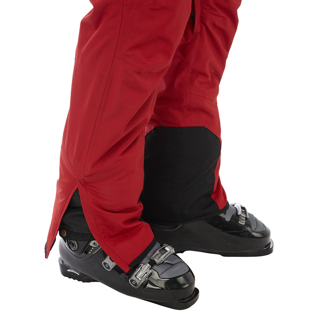 Bolt Mens Waterproof Insulated Salopettes - Chilli Red image 5