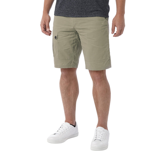Bradshaw Mens Performance Cargo Shorts - Stone image 2