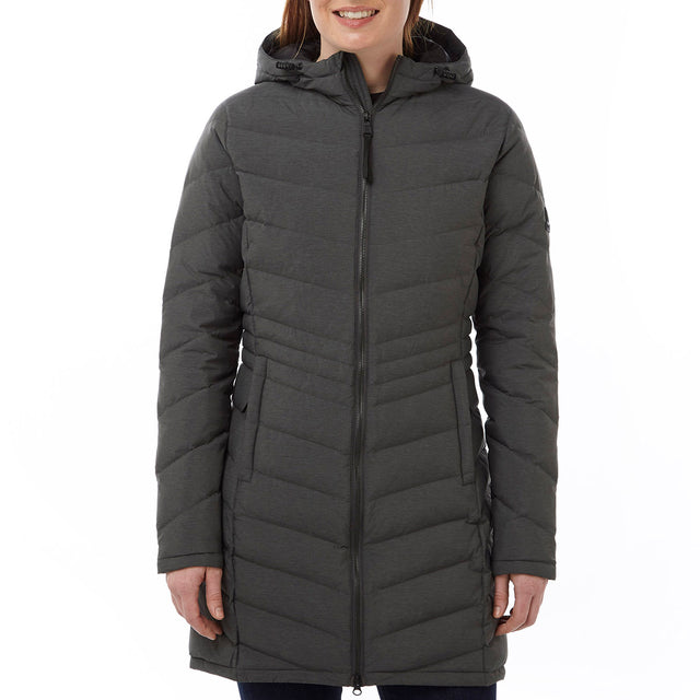 Bramley Womens Down Jacket - Dark Grey Marl image 2