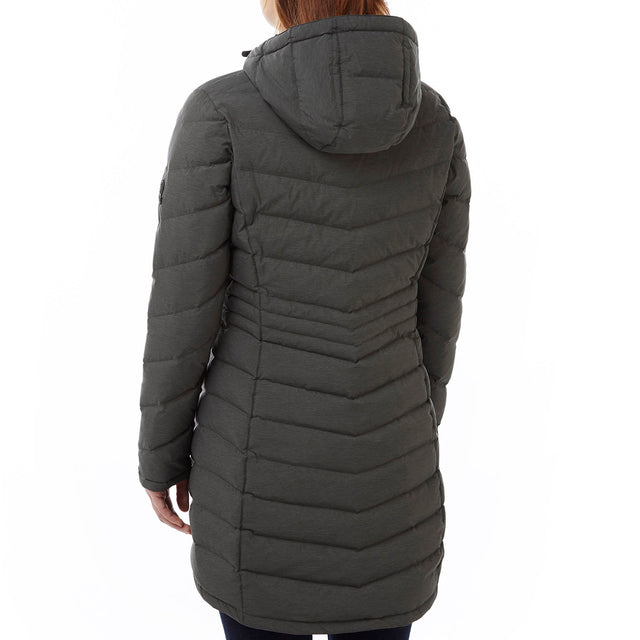 Bramley Womens Down Jacket - Dark Grey Marl image 3