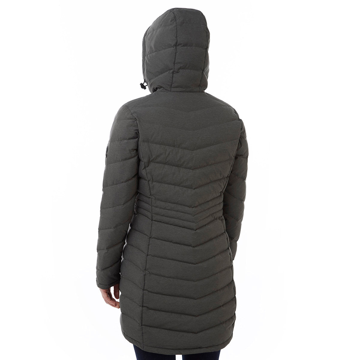 Bramley Womens Down Jacket - Dark Grey Marl image 4