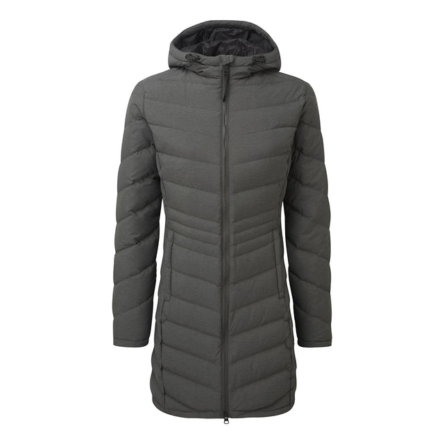 Bramley Womens Down Jacket - Dark Grey Marl image 1