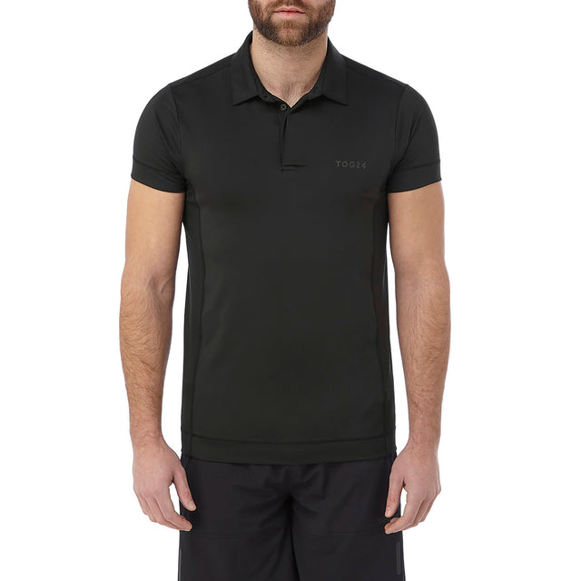 Brawl Mens Performance Polo Shirt - Black image 2