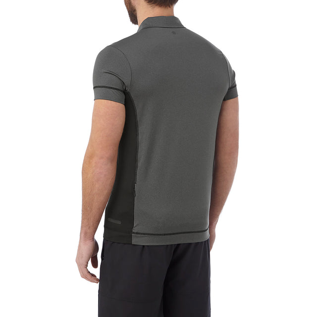 Brawl Mens Performance Polo Shirt - Grey Marl image 3