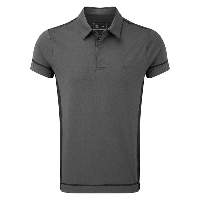 Brawl Mens Performance Polo Shirt - Grey Marl image 1