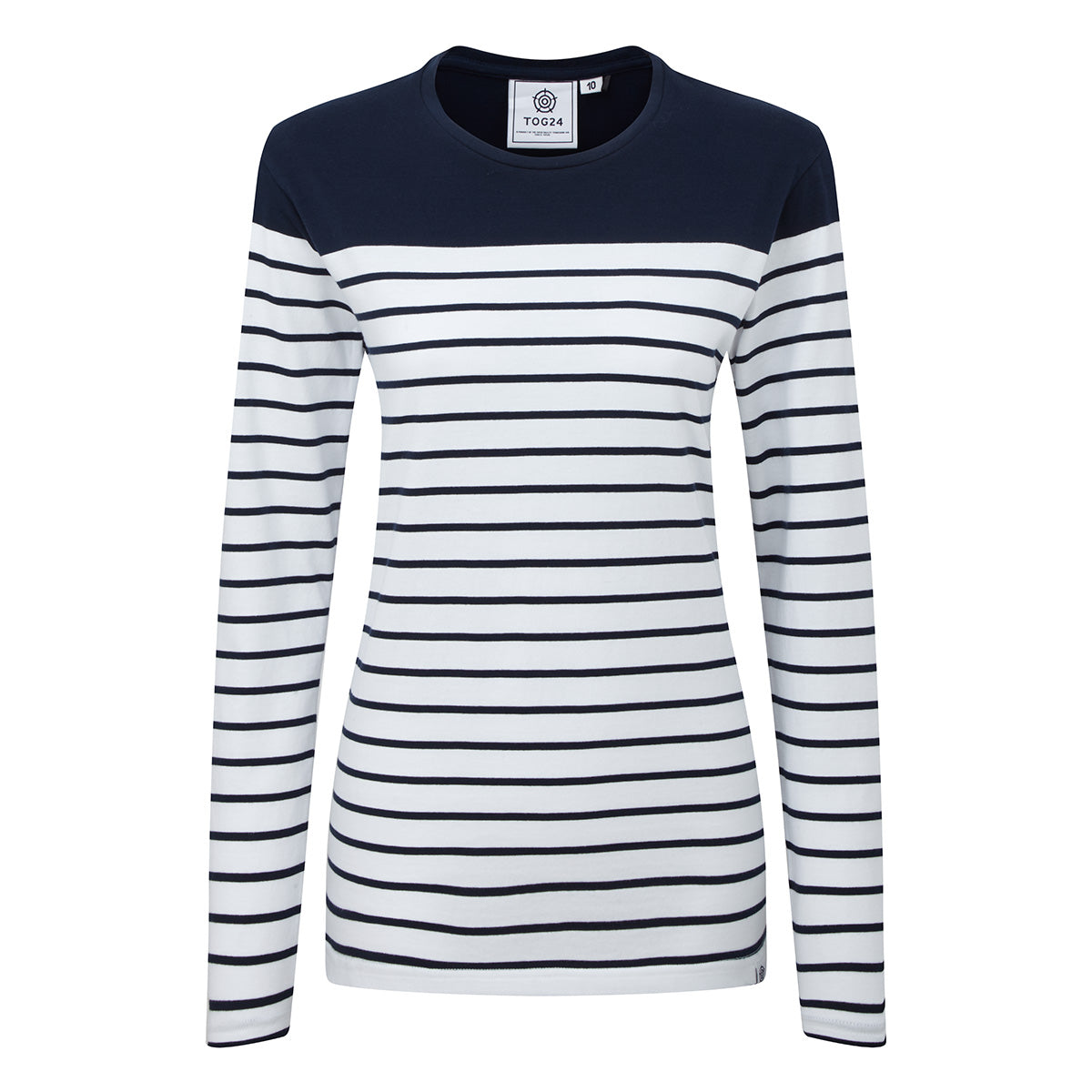Braythorn Womens Long Sleeve Stripe T-Shirt - Navy image 4