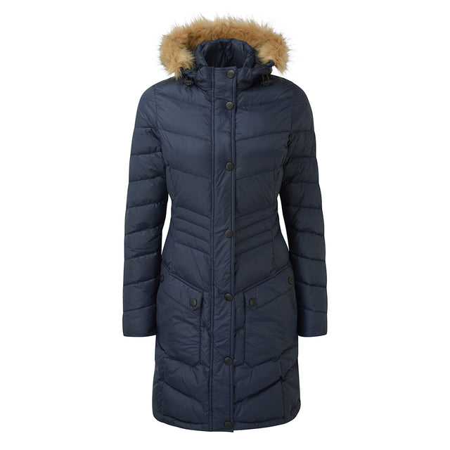 Buffy Womens Down Jacket - Navy image 1