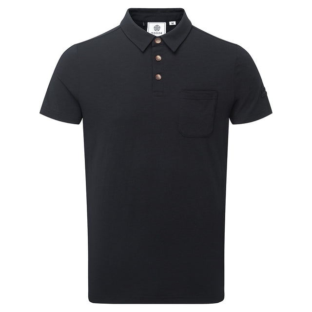 Buxton Mens Dri Release Wool Polo - Black image 1