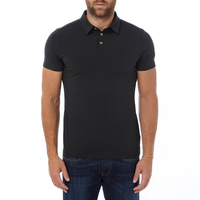 Buxton Mens Dri Release Wool Polo - Black image 2