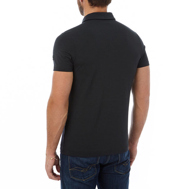 Buxton Mens Dri Release Wool Polo - Black image 3