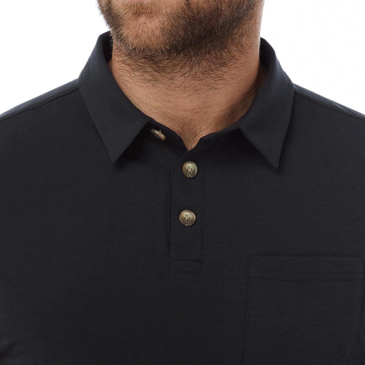 Buxton Mens Dri Release Wool Polo - Black image 4