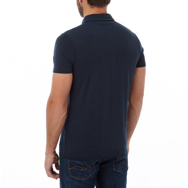 Buxton Mens Dri Release Wool Polo - Navy image 3