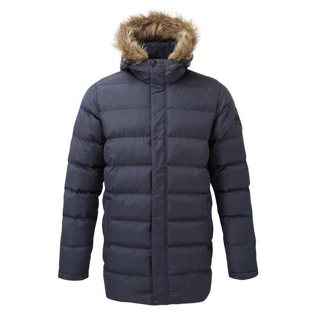Caliber Mens Long Insulated Jacket - Navy image 6