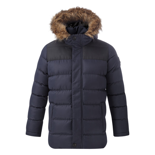 Caliber Kids Insulated Jacket - Navy/Black image 1
